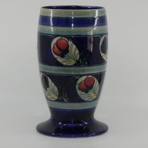 William Moorcroft Banded Wisteria with Peacock Feather 303/10 large vase