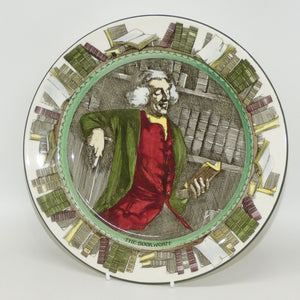 Royal Doulton Professionals The Bookworm plate D3089 (Green border)