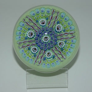John Deacons Scotland Butterfly Double Spoke Magnum paperweight (Light Green)