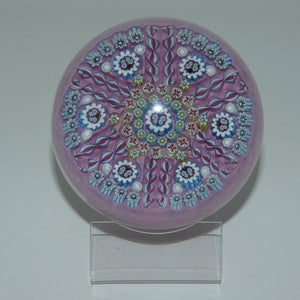 John Deacons Scotland Butterfly Double Spoke Magnum paperweight (Pink)