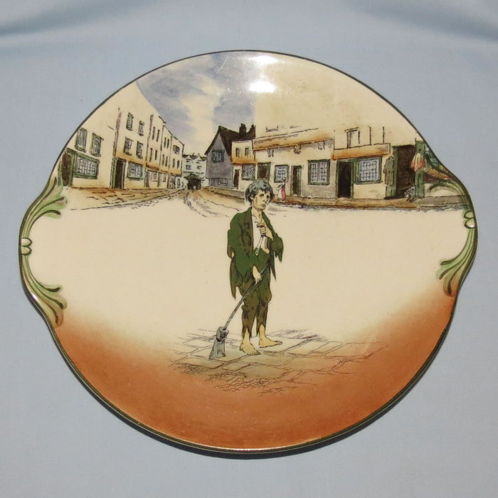 Royal Doulton Dickens Poor Jo round handled cake plate D2973