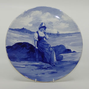 Royal Doulton Blue Childrens wall charger (Woman by seashore)