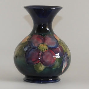 Walter Moorcroft Clematis (Blue) flaired and waisted bulbous vase