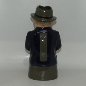 D- Royal Doulton toby jug Cliff Cornell (Blue Coat)