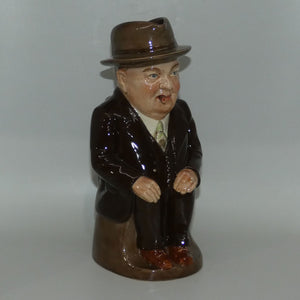 D- Royal Doulton toby jug Cliff Cornell (Brown Coat)