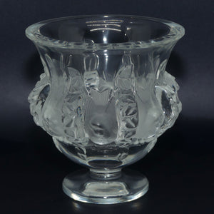 Lalique France Frosted Dampierre vase (#1)