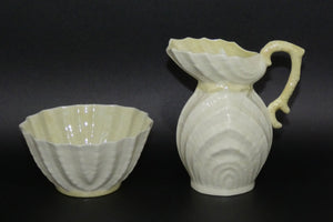 Belleek Double Shell milk jug and sugar bowl | 1st Green Mark