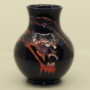 Moorcroft Dragon bulbous vase (Blue)