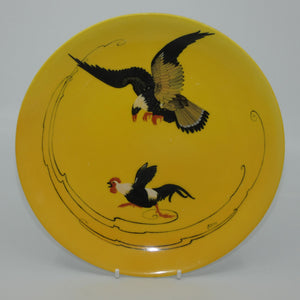 Royal Doulton hand painted Bird of Prey & Cockerel plate (Eaton)