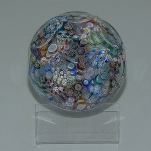 John Deacons Scotland Closepack Millefiori Facetted Medium paperweight
