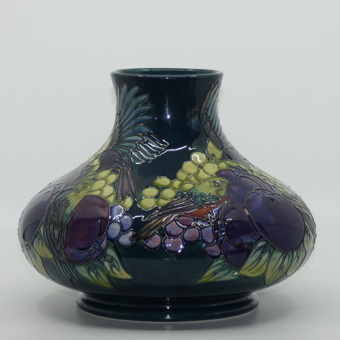 Moorcroft Finches 32/10 vase (Blue/Green)