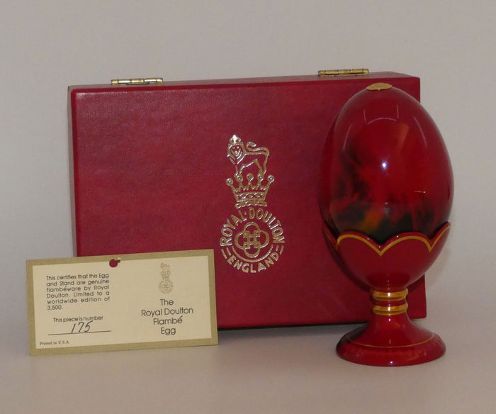 Royal Doulton Flambe Egg and Stand (Ltd Ed)