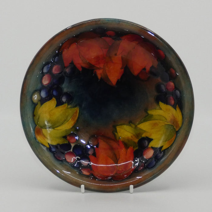 William Moorcroft Flambe Leaves and Fruit shallow bowl (Flambe Tints)
