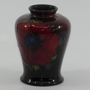 Walter Moorcroft Flambe Anemone conical miniature vase