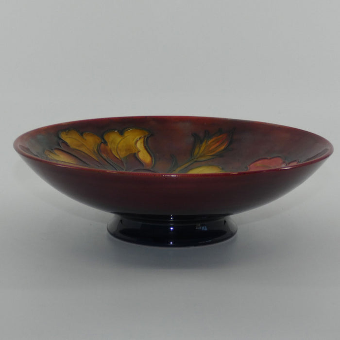Walter Moorcroft Flambe Hibiscus footed bowl