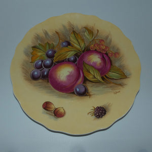 Aynsley Fruit Orchard Gold fluted shape plate D Jones