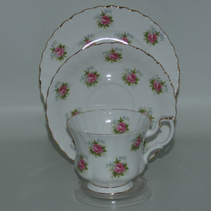Royal Albert Bone China England Forget Me Not Rose trio