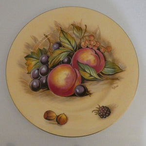 Aynsley Fruit Orchard Gold plate D Jones