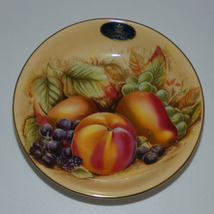 Aynsley Fruit Orchard Gold jam dish (Original Label)