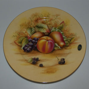 Aynsley Fruit Orchard Gold plate (Original label on Front)