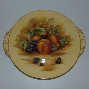 Aynsley Fruit Orchard Gold tab handled plate (Big Pattern)