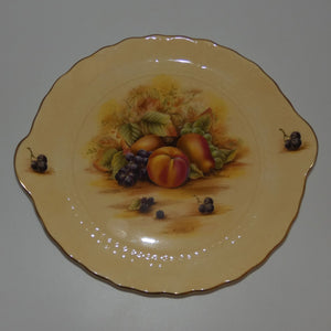 Aynsley Fruit Orchard Gold tab handle plate (Smaller Pattern)