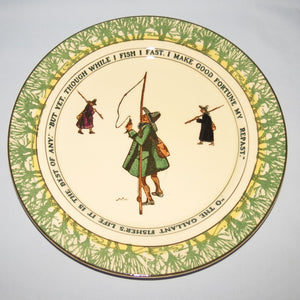Royal Doulton Izaak Walton Gallant Fishers rack plate D2704: But yet/O the Gallant