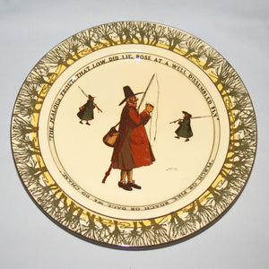 Royal Doulton Izaak Walton Gallant Fishers rack plate: The Jealous Trout/Perch or Pike