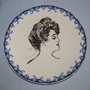 Royal Doulton CD Gibson Girls head portrait plate (Head facing right)