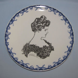 Royal Doulton CD Gibson Girls head portrait plate (Head & Dress)