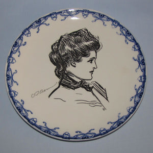 Royal Doulton CD Gibson Girls head portrait plate (Head & Scarf)
