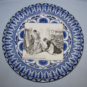 Royal Doulton CD Gibson Girls Plate - #05: She finds some consolation...