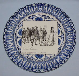 Royal Doulton CD Gibson Girls Plate - #22: She goes to the fancy...