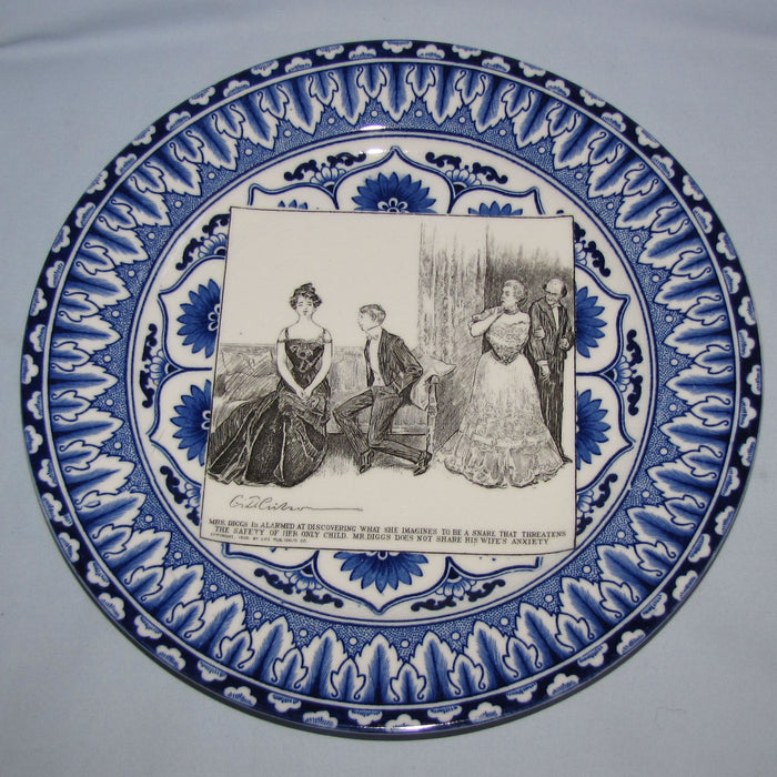 Royal Doulton CD Gibson Girls Plate - #10: Mrs Diggs is alarmed...