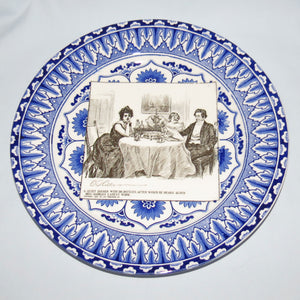 Royal Doulton CD Gibson Girls Plate - #06: A quiet dinner...
