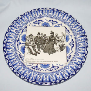 Royal Doulton CD Gibson Girls Plate - #16: Failing to find rest...
