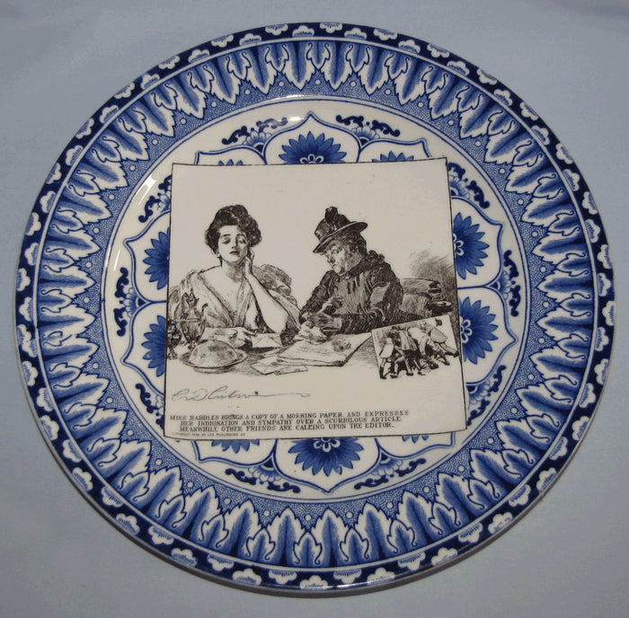 Royal Doulton CD Gibson Girls Plate - #20: Miss Babbles brings a copy...