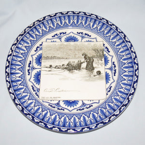 Royal Doulton CD Gibson Girls Plate - #21: They all go skating