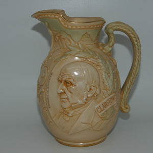 Doulton Burslem Vellum Ware jug William Ewart Gladstone