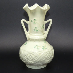Belleek Harp Shamrock flaired vase (Plain inside)