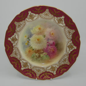 Royal Doulton hand painted Chrysanthemum plate (Hart)