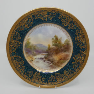 Royal Doulton hand painted & heavily gilt Countryside plate (L Hart)