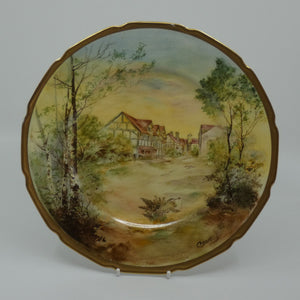 Royal Doulton hand painted Shakespeare's Country Shakespeare's Birthplace plate (Hart)