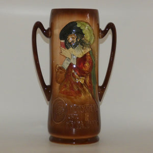 Royal Doulton Aerographed Brown Here's a Health double handled vase D5719