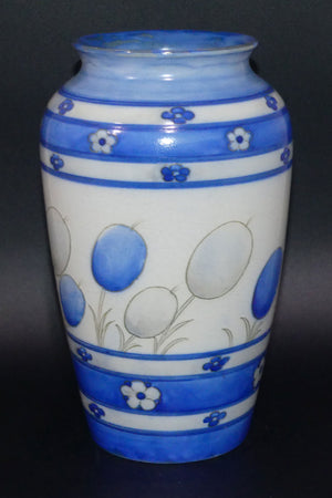 William Moorcroft Banded Honesty salt glaze M18 vase