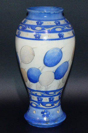 William Moorcroft Banded Honesty salt glaze bulbous vase
