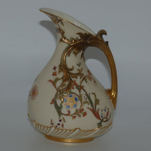 Royal Worcester Blush Ivory hand painted tear drop bulbous jug