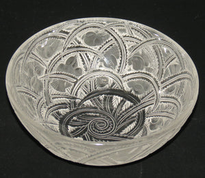 Lalique France Frosted Pinsons bowl
