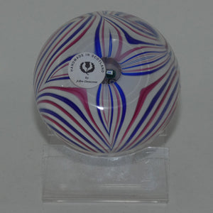 John Deacons Scotland Blue Red Marbrie paperweight