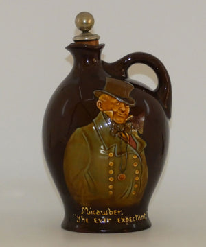 Royal Doulton Kingsware DEWARS Dickens Mr Micawber flask
